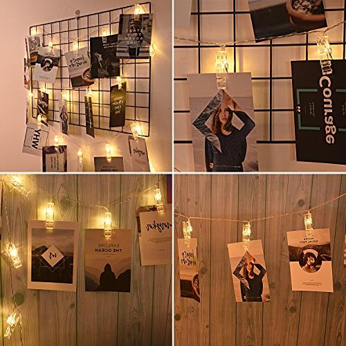 20 Photos String Lights AOSTAR Operated Fairy for bedroom Cards and