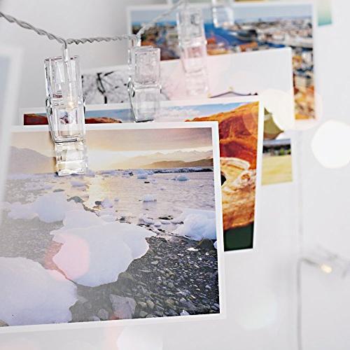 BestCircle 40 LED Clip String Ft, Hooks, White, Decoration, Wedding, Party, Lightings