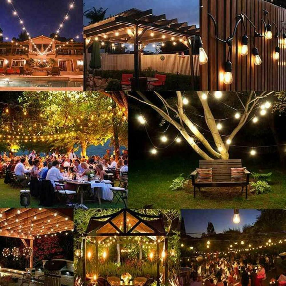 Outdoor Patio Lights Garden Yard Commercial Bulbs