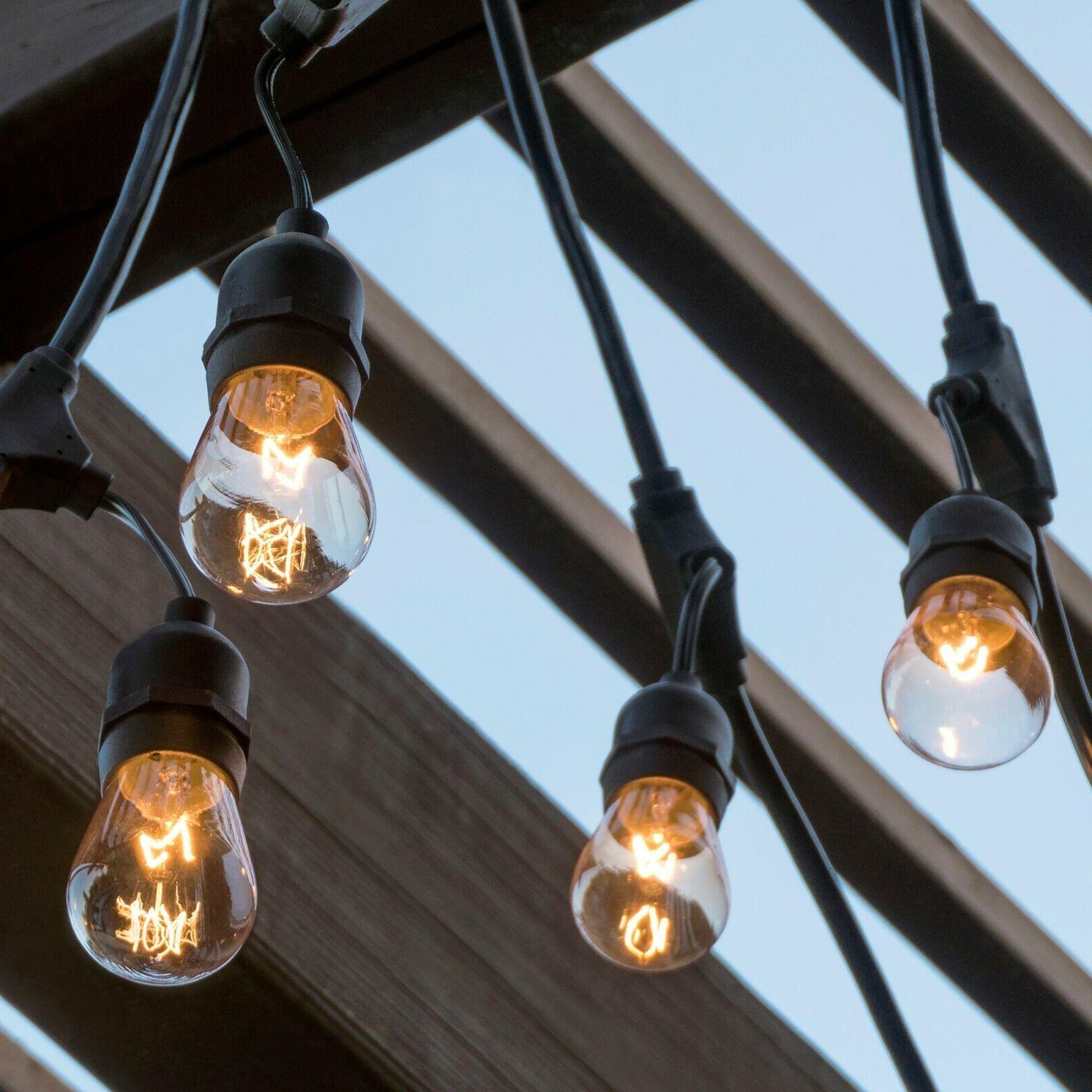 48ft Commercial Weatherproof Café String Lights