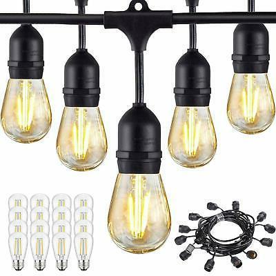 48FT Bulbs Outdoor String Garden Lighting Waterproof