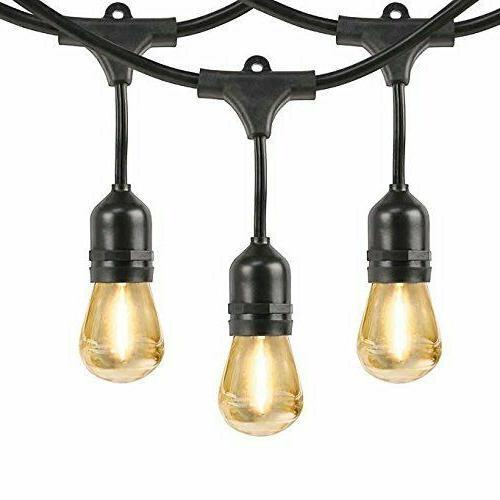 Feit Outdoor Weatherproof String Light Set 48ft 24 Light Soc