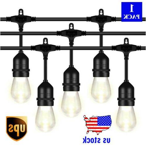 48ft led outdoor string lights with1 5w