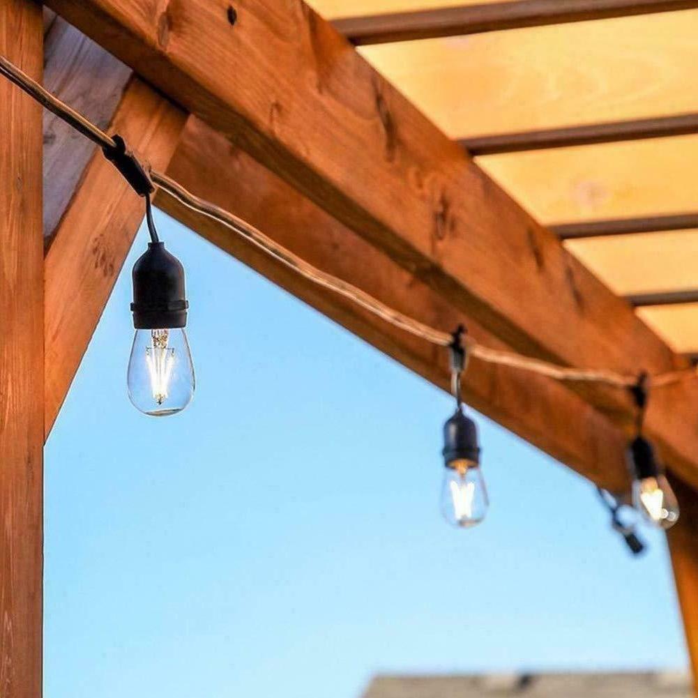 48FT LED Commercial Globe String Lights Bulbs