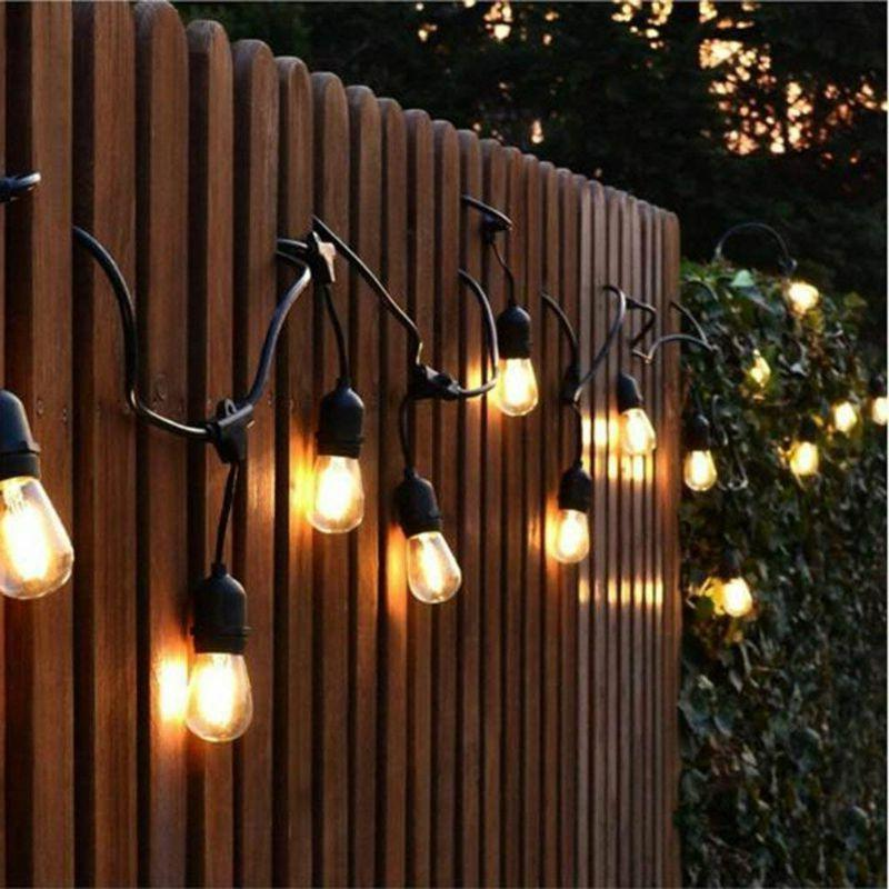 48ft LED String Lights S14 Edison Bulb for Cafe Garden