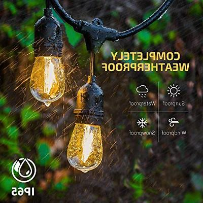 48FT Bulbs String Lights Garden Waterproof US