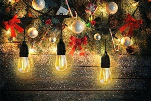 48ft String Waterproof Commercial Patio Fairy Light