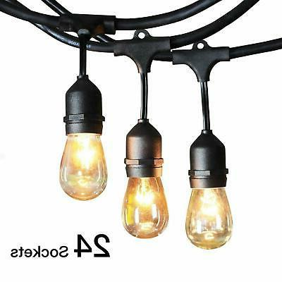 48ft outdoor string lights waterproof commercial patio