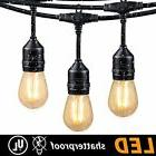 48FT Outdoor String Lights with 15 Shatterproof LED S14 Edis