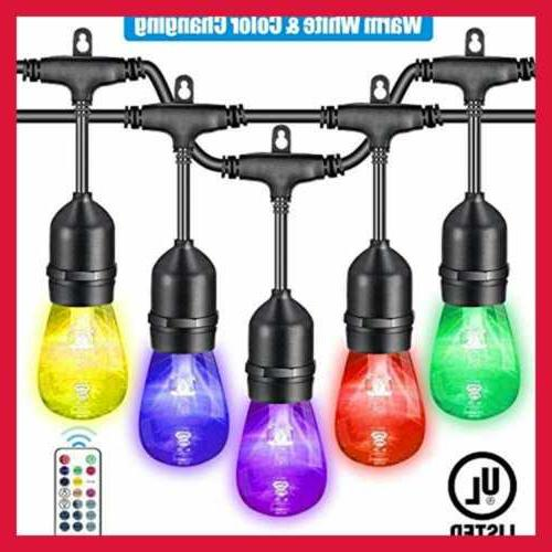 48FT Warm WHITE & Color Changing Outdoor String Lights Dimma