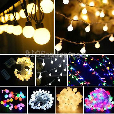 4-10M 20-70 Bulbs LED Solar/Battery/Electric Ball Party Stri
