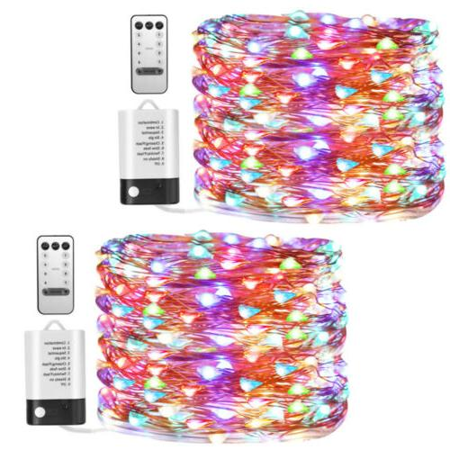 5 10 20m led copper wire string