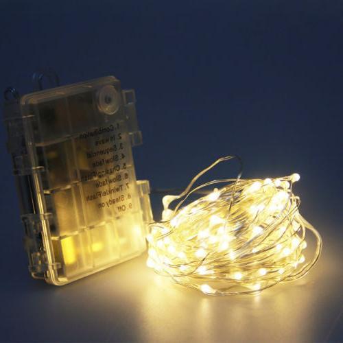 50/100 LED Fairy String Lights Rice Wire Wedding Decor