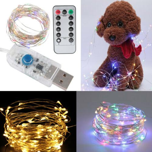 50 100led copper wire string lights usb