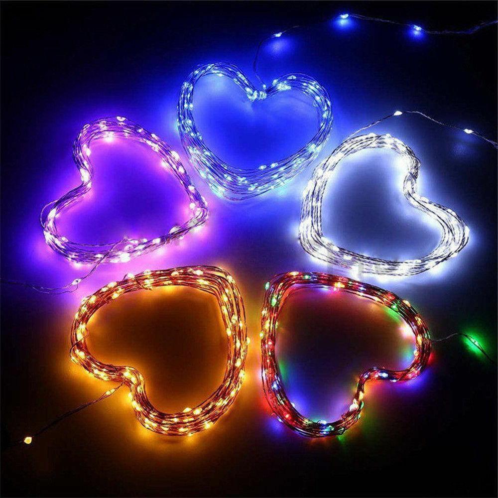 50-200 LED Solar Power Fairy Party Xmas Outdoor