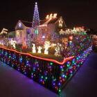 50 LED Solar Power String Fairy Lights Flash Garden Christma
