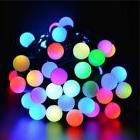 50 RGB Color Changing LED 16ft Multi Color Ball Globe String
