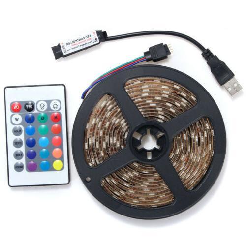 5V 60SMD/M RGB LED Light TV Back Remote