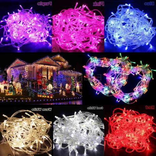 LED Christmas Fairy String Lights Lamps Wedding Party Indoor