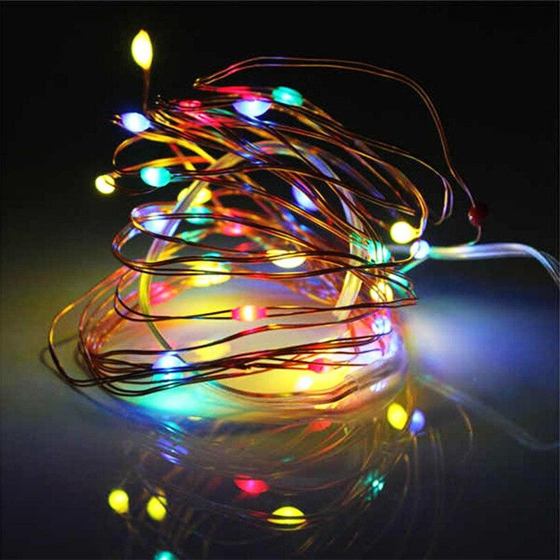 5M 50 LED Battery Operated <font><b>Lights</b></font> for Party Wedding Flasher Fairy