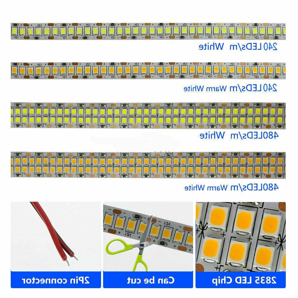 5M LED Strip 120LED/M 5mm PCB Tape Lamp 12V