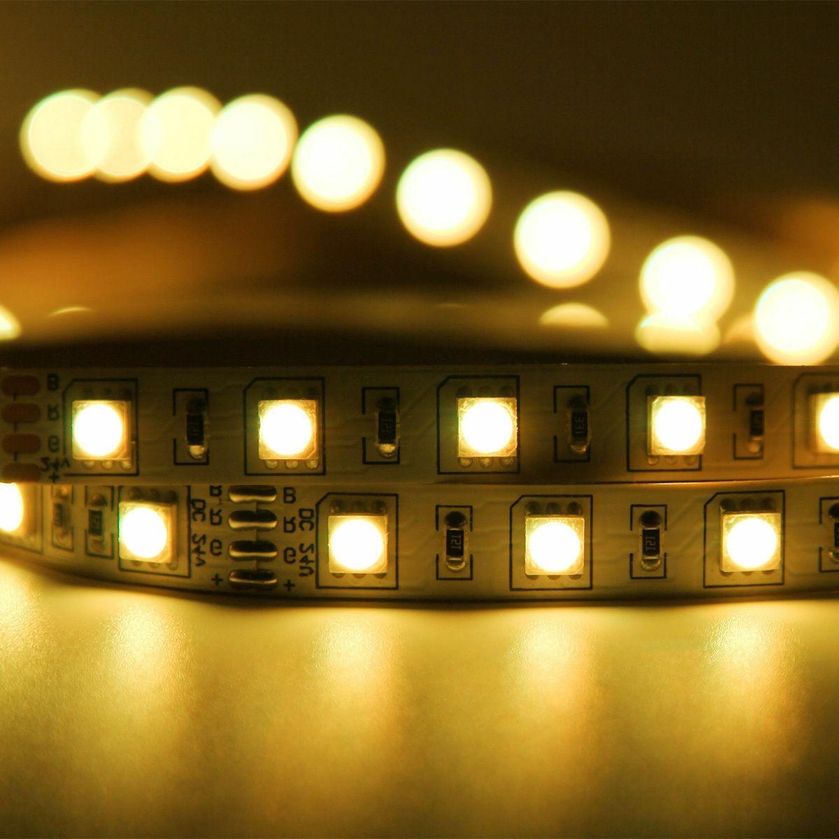 5M RGB Waterproof LED Strip SMD Remote 12V