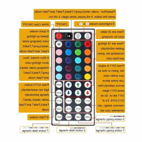 5M 5050 LED 44 Remote 3A Full 1