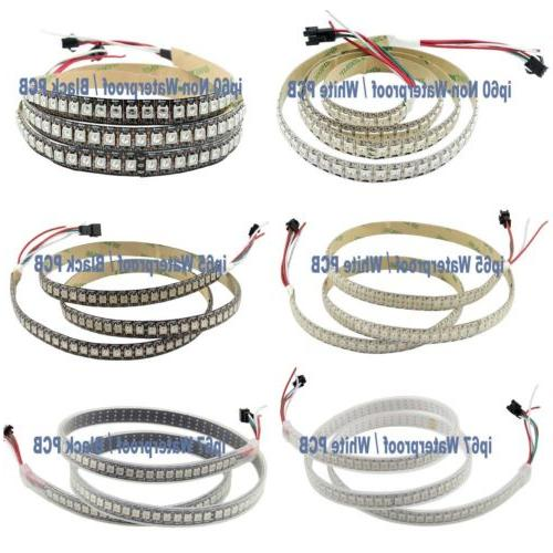 5V WS2812B 30/60/144LEDs/M LED Strip IC