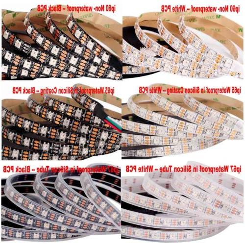 5V WS2812B 30/60/144LEDs/M LED Strip ws2812 IC