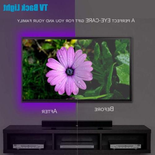 5V USB LED Strip Lights TV Back Light 5050 RGB Colour Changing with 24Key