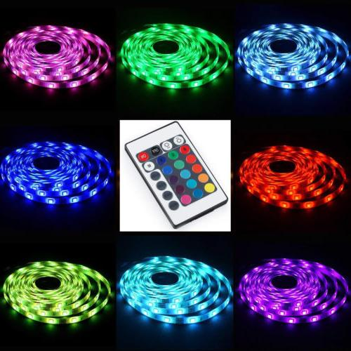 5V USB LED Lights 5050 RGB Colour Changing with Remote