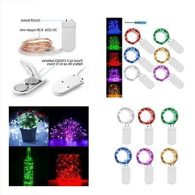 6 Seasonal Lighting PACK Fairy String Lights 7.2ft 20 Leds C