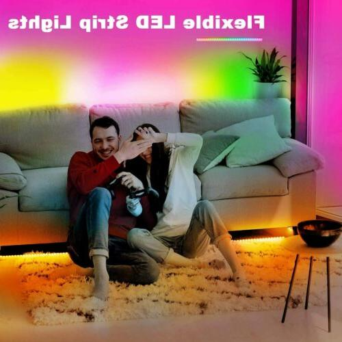 32FT RGB LED Remote Lights TV