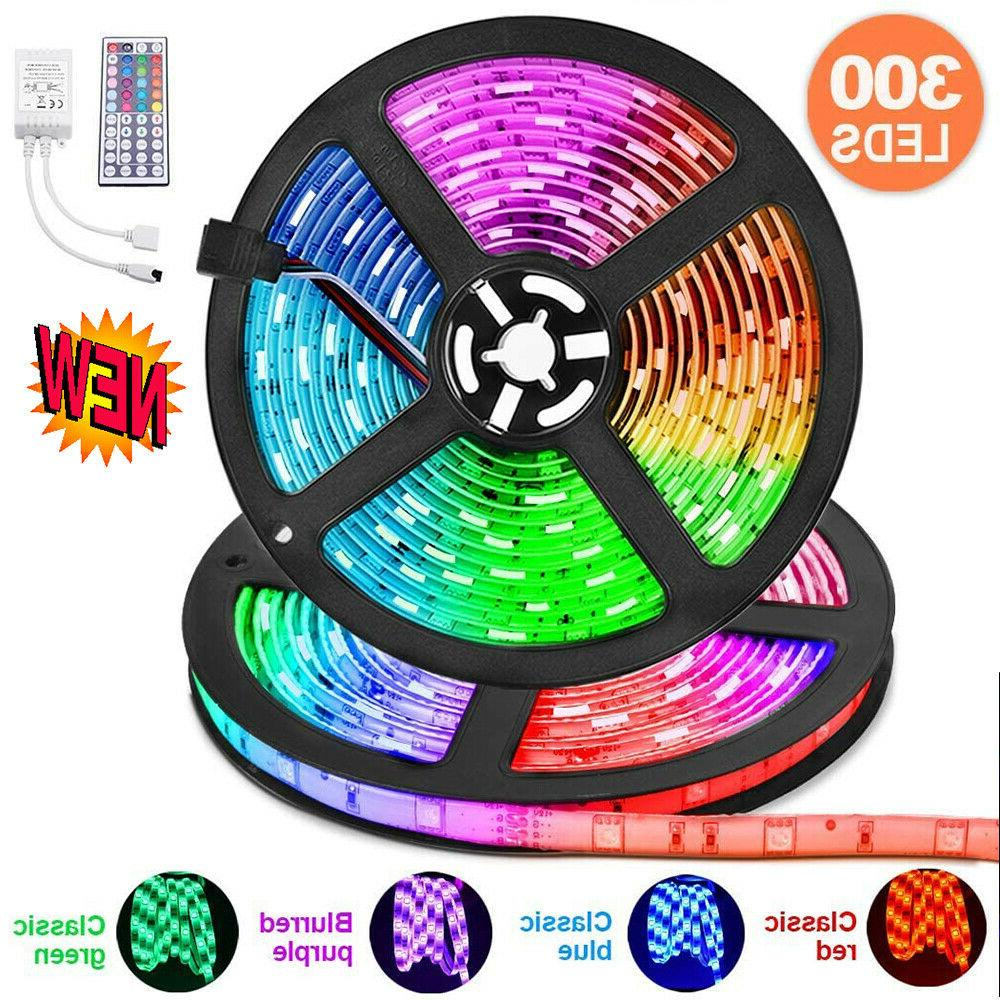 65.6FT Flexible Strip Light RGB LED Fairy Lights Party