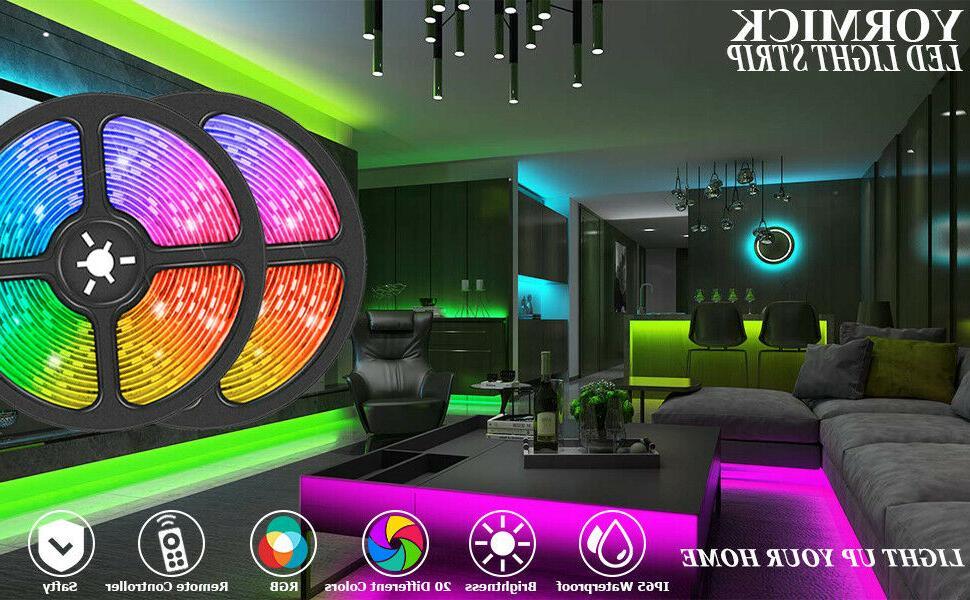 65FT Flexible 3528 Remote Lights TV Bar