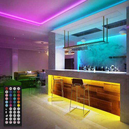 100ft LED Lights 5050 Color Remote Rooms Bar