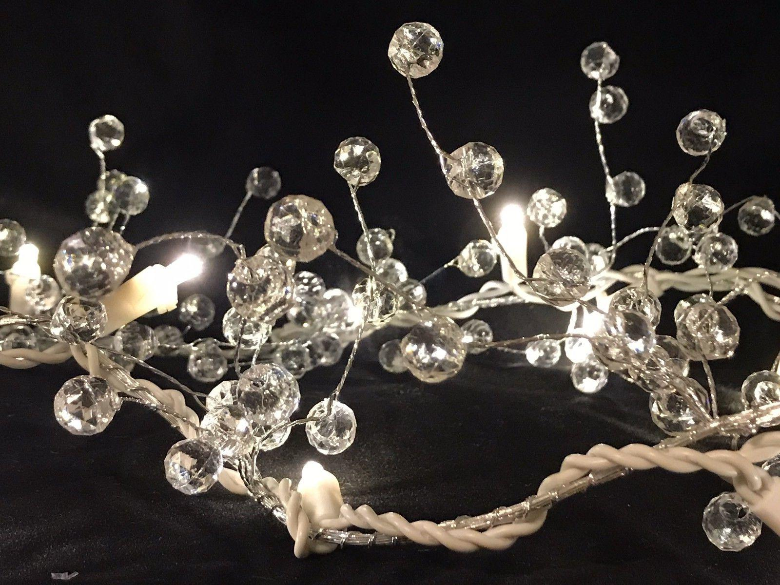 6ft Beaded Acrylic Garland String Light Seasonal Lighting Ev