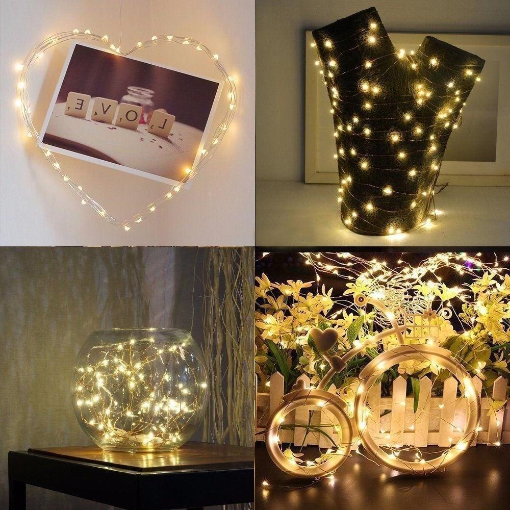 6x 20 Waterproof LED Copper Fairy Lights Decor