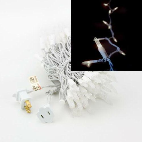 70 Outdoor White LED Mini Lights, Cord, Weatherproof, Expandable