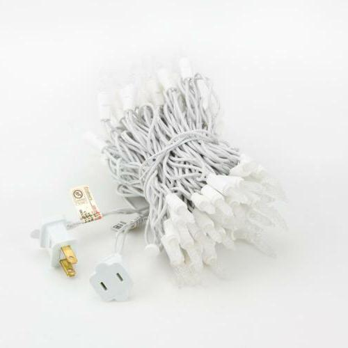 70 Outdoor White LED Lights, Cord, Weatherproof,