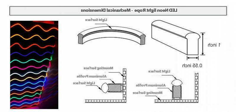 82ft 110V RGB Professional Grade Lights Flexible