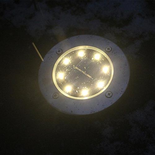 YJYDADA Solar Power Buried Light Lamp Outdoor Path Garden Decking