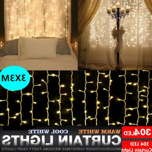 304LED Indoor/Outdoor Christmas String Fairy Wedding Curtain