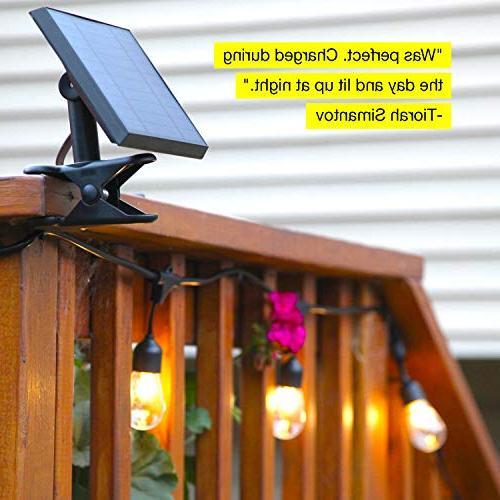 Brightech Waterproof Outdoor String - 2W Vintage Bulbs - 27 Heavy Duty Create Cafe Backyard
