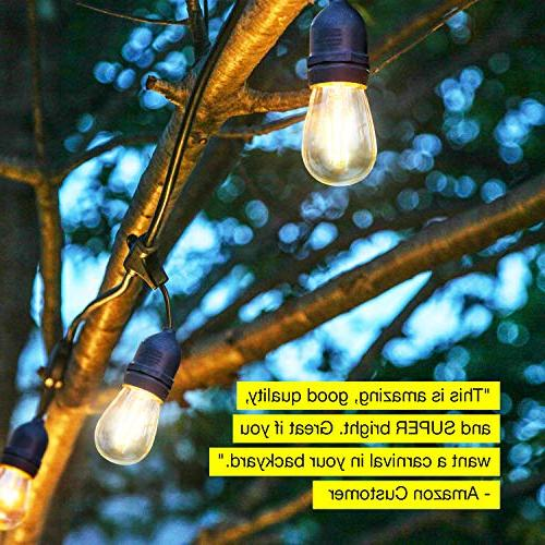 Brightech Ambience Pro Waterproof Lights - 2W Vintage Grade Cafe in Your Backyard