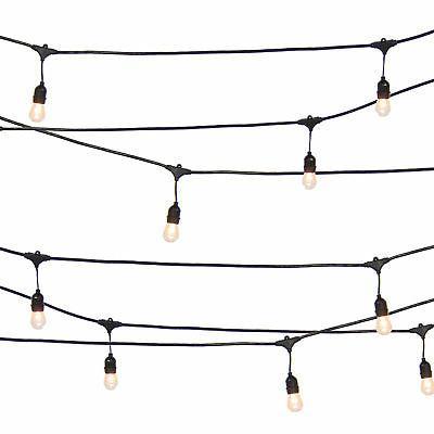 BCP Patio String Lights Black