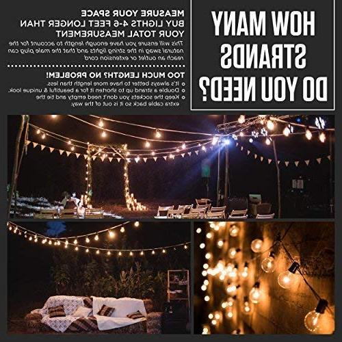 60 Globe : Waterproof, Globe String Lights for Patios, Backyards, Porches, More