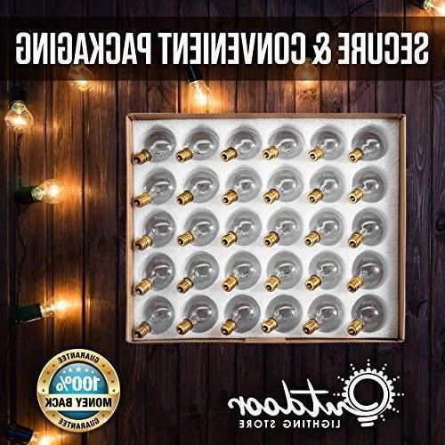 50ft String Lights, 60 : Connectable, Globe String Lights for Porches, Gazebos, & More