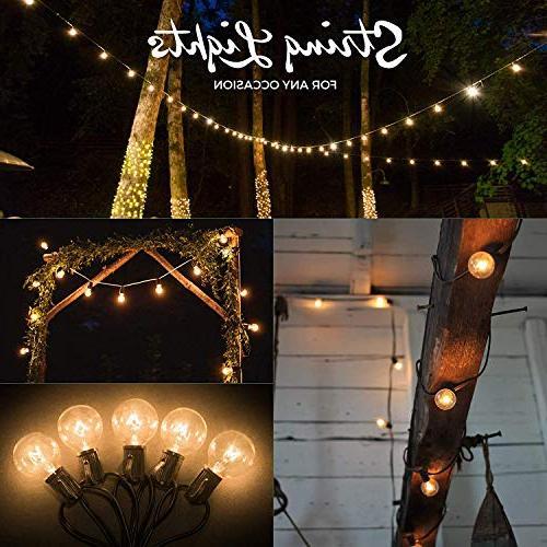 50ft String Lights, 60 Globe : Indoor/Outdoor Globe String Patios, Parties, Weddings, Porches, Pergolas More