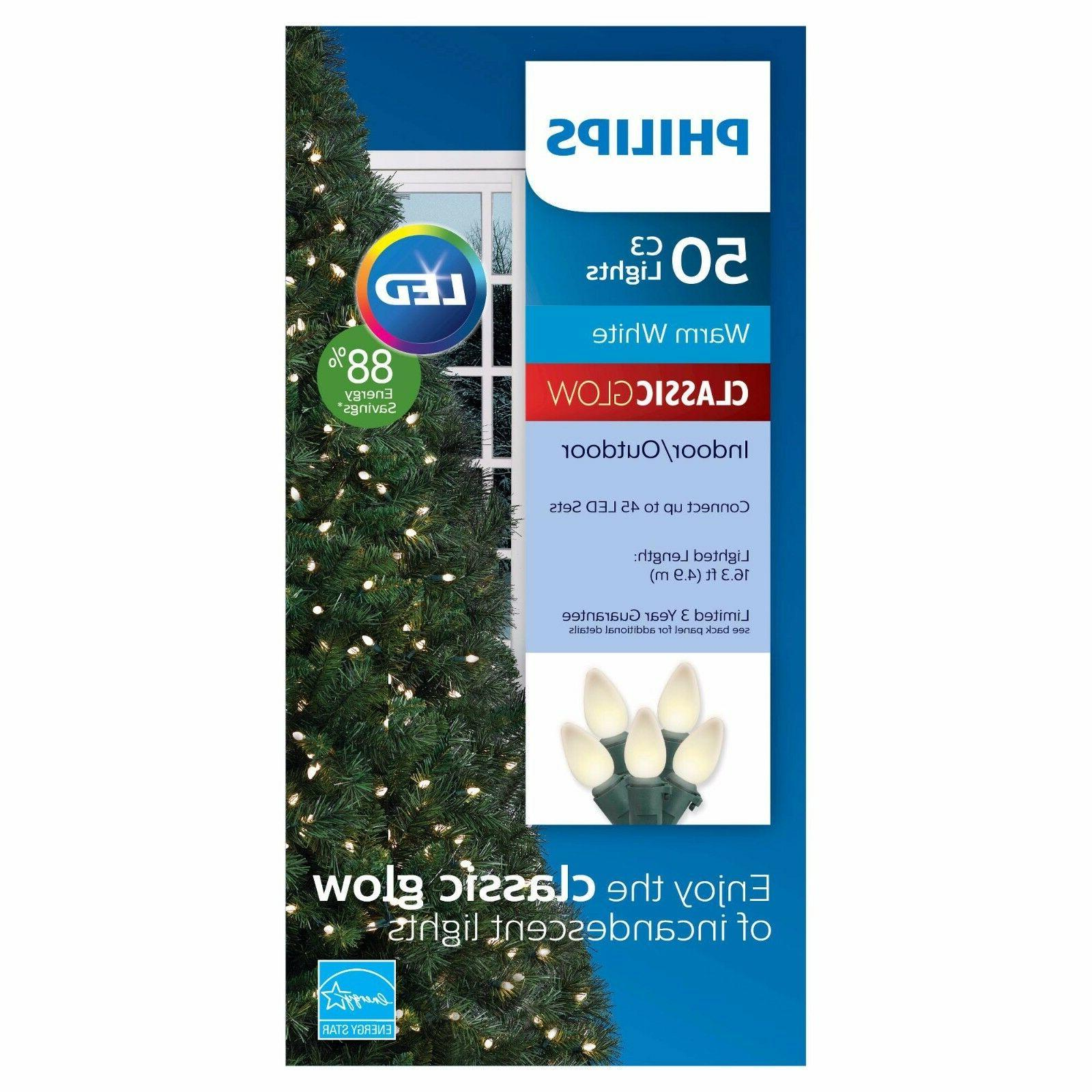 Philips Philips 50 ct LED C3 Smooth String Lights in Warm Wh